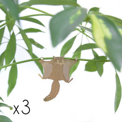 Plant Animals Set of Three | Frog / Sloth / Squirrel