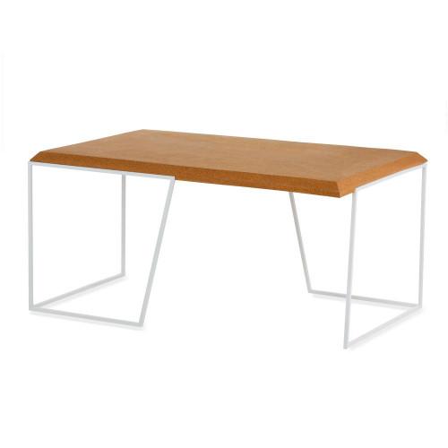 Center Table Grao   Light Cork & White Legs