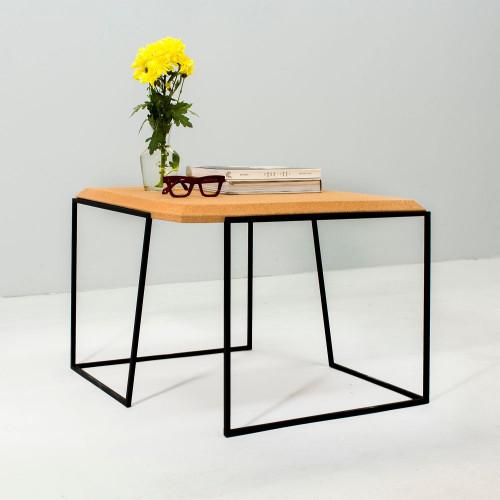Coffee Table Grao   Light Cork & Black Legs