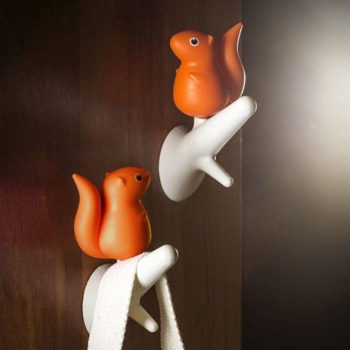 Haken Eichhörnchen 2er Satz | Weiß