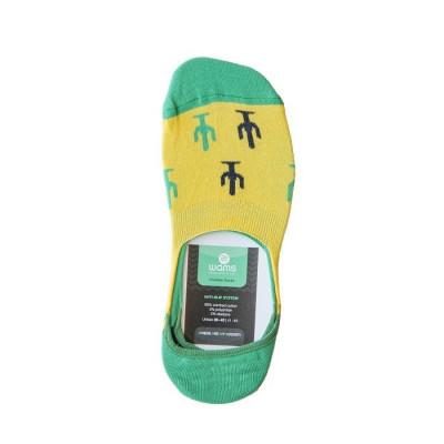 Unisex-Socken   Grün unsichtbar