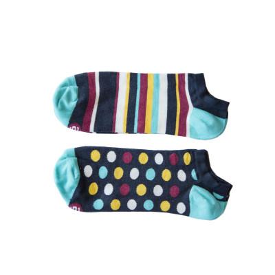 Unisex-Socken 2er-Set   Low Pack Blau
