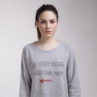 Spiritual Walk Women's Sweatshirt | Steel