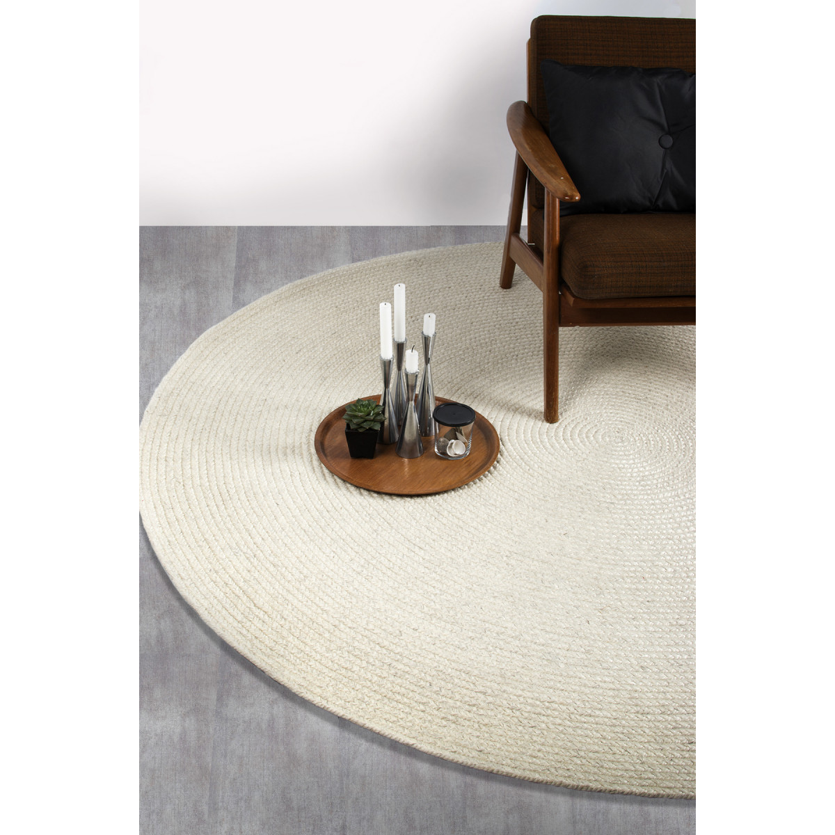Teppich Stavanger | Elfenbeinfarbe-160 cm