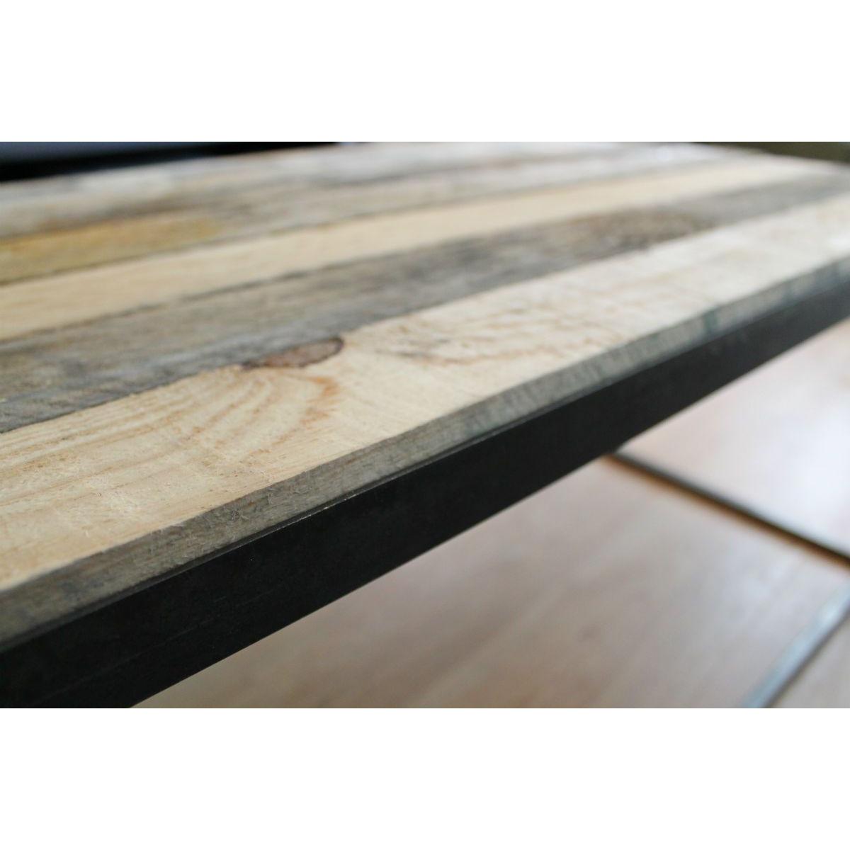 Couchtisch 'Stahl und Holz'