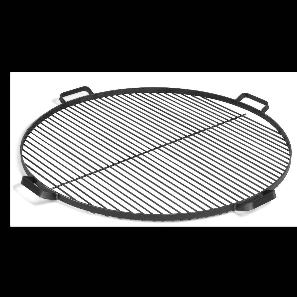 Rost mit Handgriffen für Feuerschale | Schwarzer Stahl-60 cm