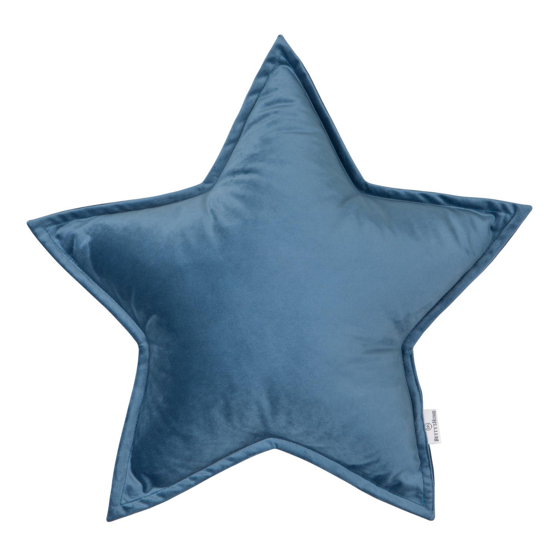 Kissen Little Star Velvet | Blau