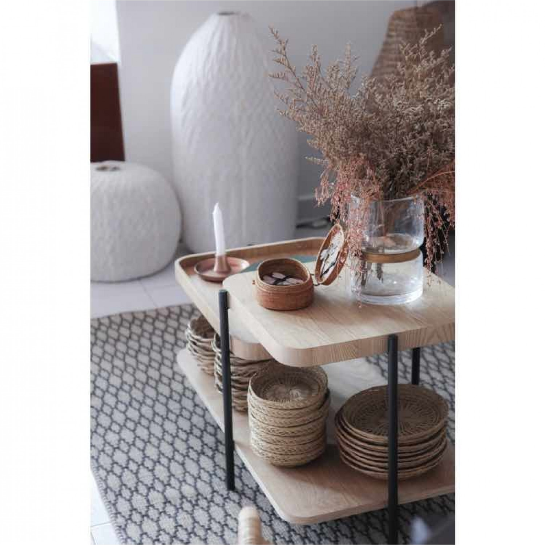 Side Table James | Black & Wood