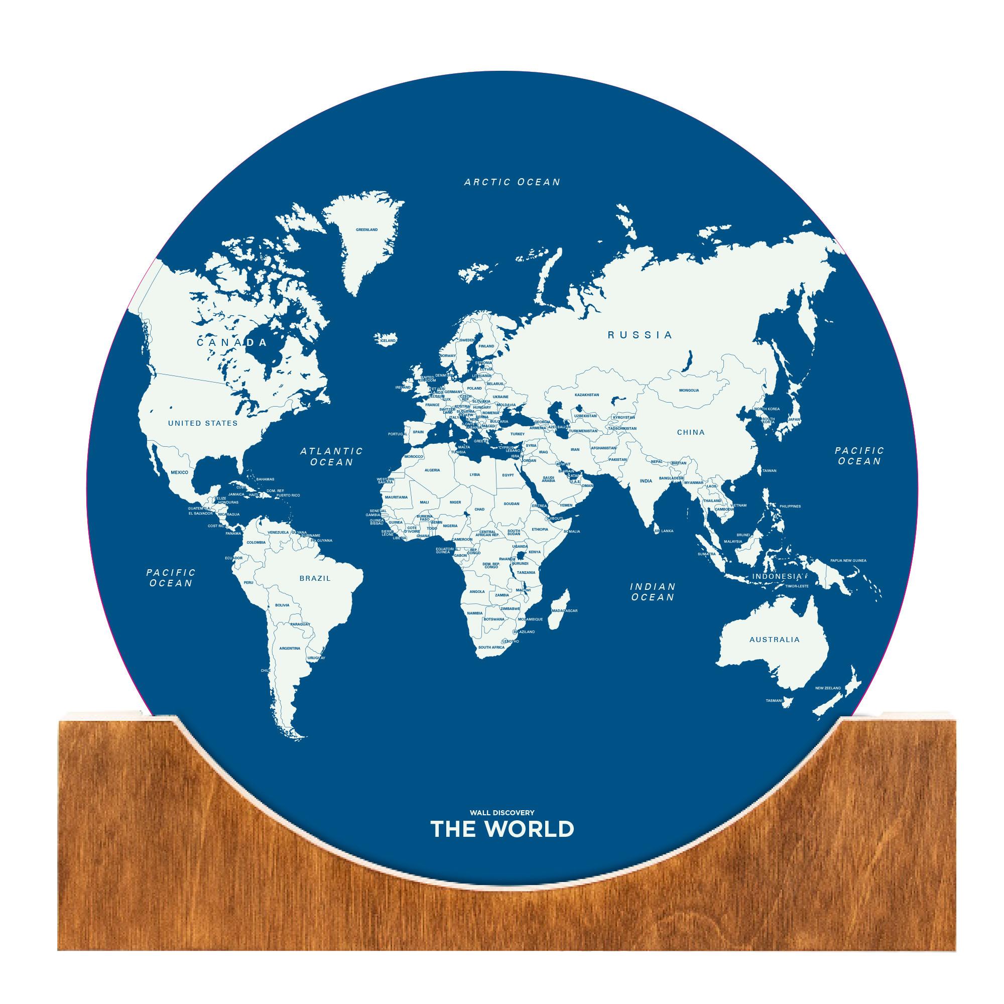 Aufstell-Weltkarte   Blau