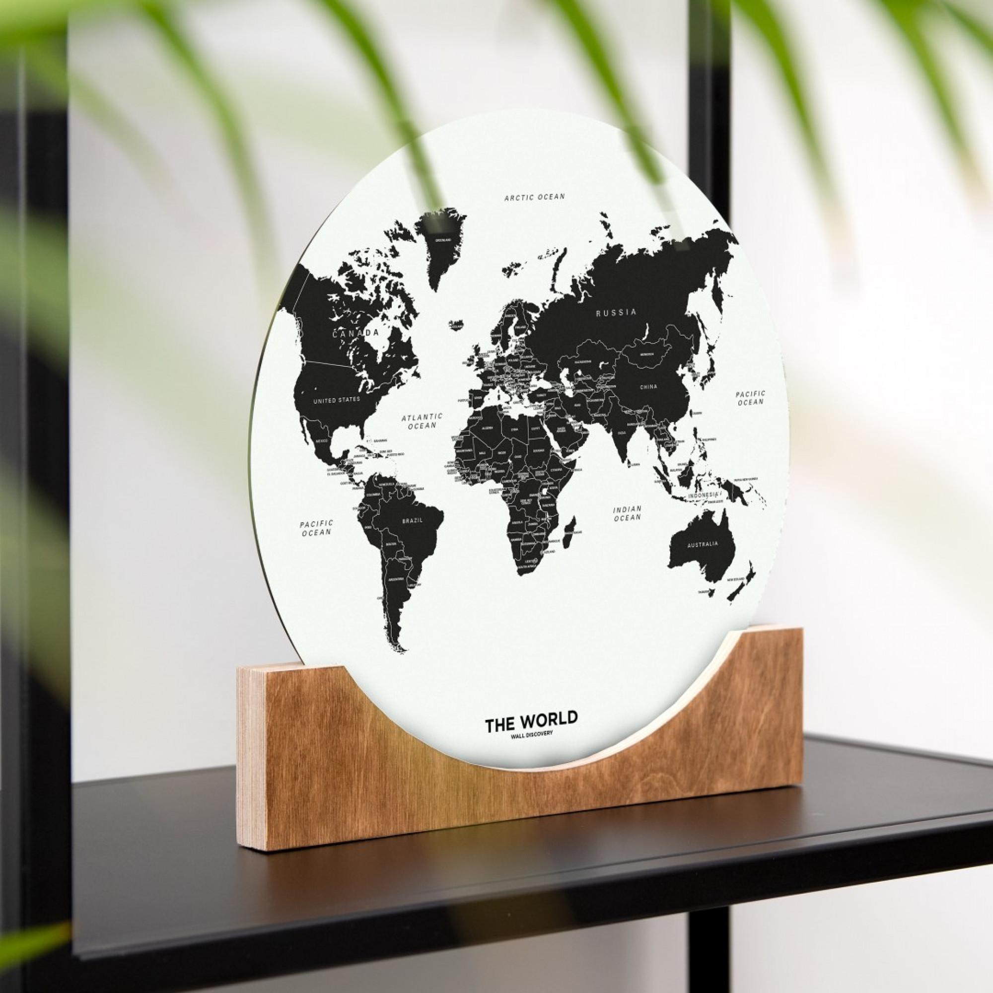 Aufstell-Weltkarte   Weiß