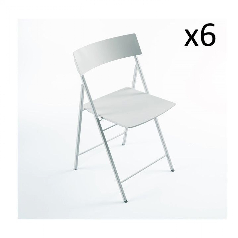 Piper Chaise Blanc   Set de 6