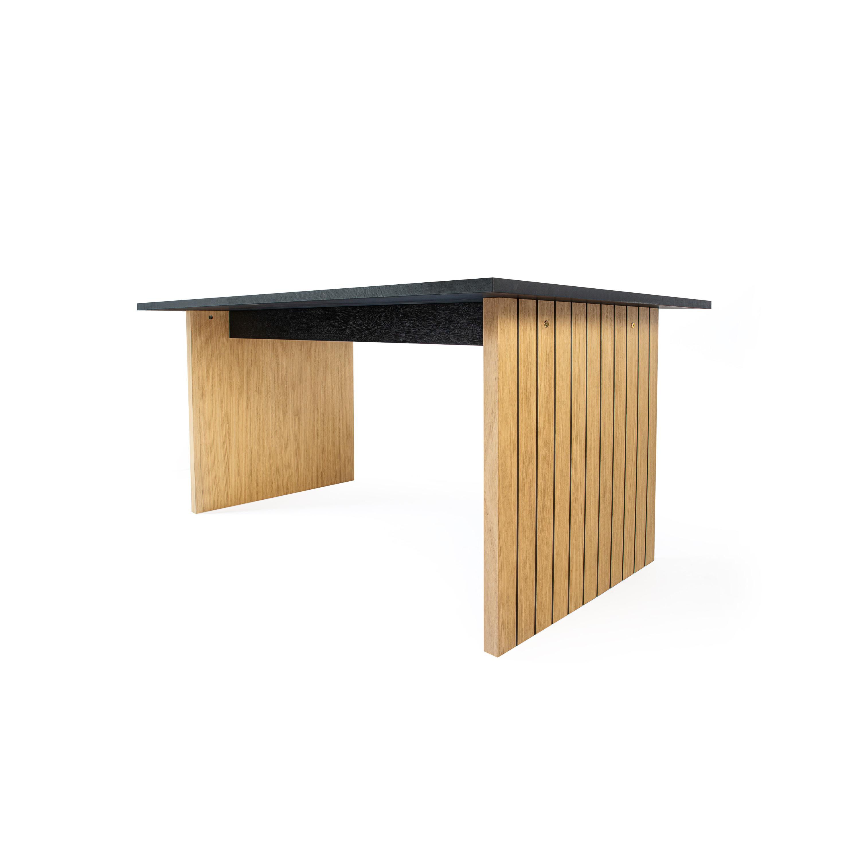 Esstisch Stripe 160 cm | Eiche & Schwarz