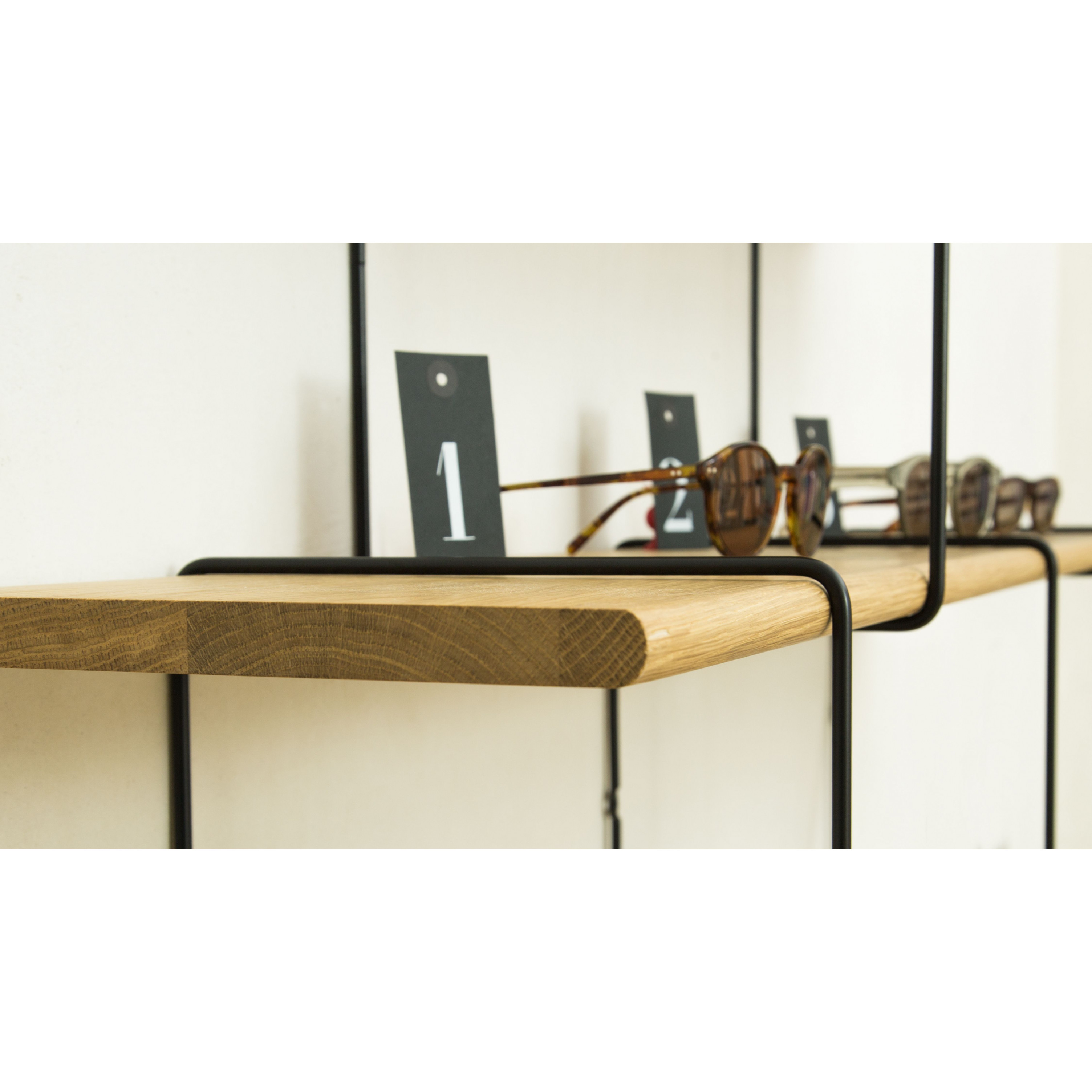 Shelving System LINK Set 2   Oak Black