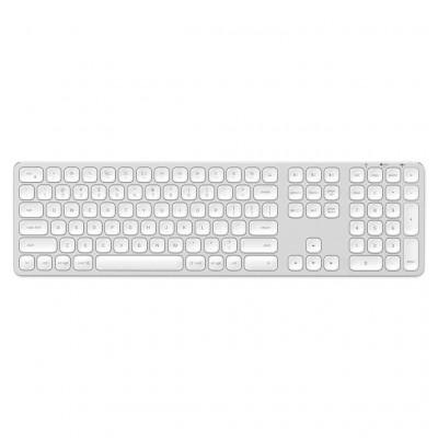 Kabellose Bluetooth Aluminium-Tastatur für Mac   Qwerty   Silber