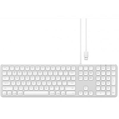 Aluminium Kabelgebundene Tastatur für Mac   Qwerty   Silber