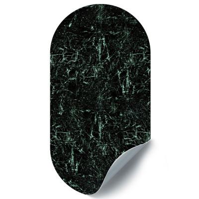 Magnetische Aufkleber Oval Marmor | Grün