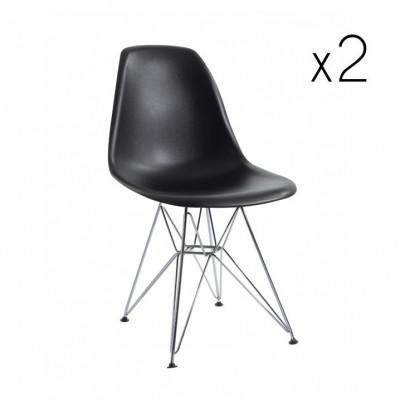Stuhl Sono 2er-Set | Schwarz