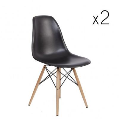 Stuhl Manda 2er-Set | Schwarz