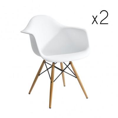 Stuhl Mondo 2er-Satz | Weiß