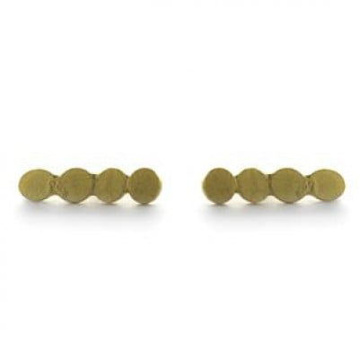 Pair Earrings with 4 Dots   Gold Plated
