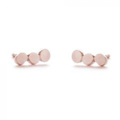 Pair Earrings with 3 Dots   Red Plated