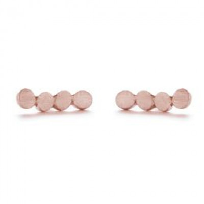 Pair Earrings with 4 Dots   Red Plated
