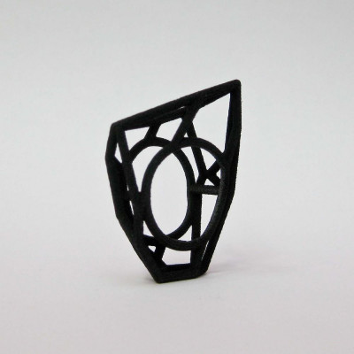 Ring LR WF Small -Black