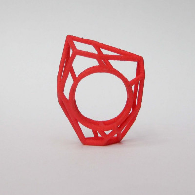 Ring LR WF Small -Red