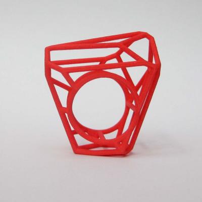 Ring LR WF Big -Red