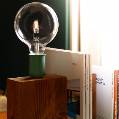 Stand By Me Lamp | Almond Green + Red Cable