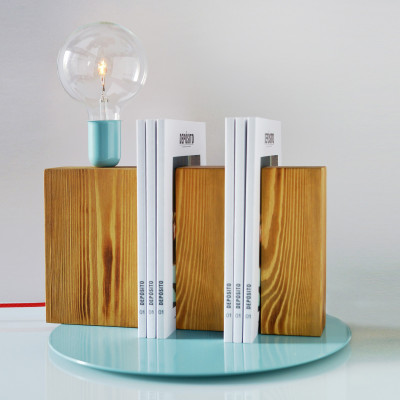 Stand By Me Lamp | Blue + Red Cable