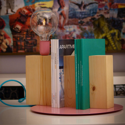 Stand By Me Lamp | Pink + Blue Cable