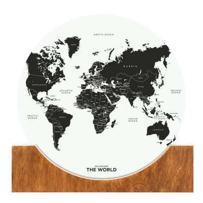 Aufstell-Weltkarte | Weiß