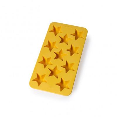 Eiswürfelform für 11 Eiswürfel Sterne   Gelb