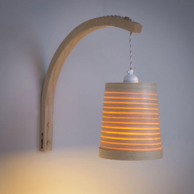 Stem Wall Light Helix   Ash