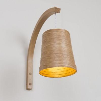 Stem Wall Light Helix   Oak