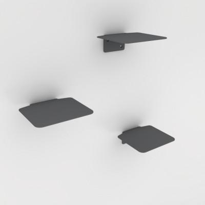 Leiterstufen-Katzensatz von 3   Grau