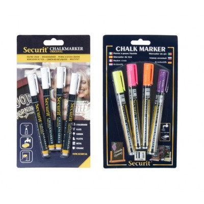 Set of 2 Chalk Markers 1-2 mm (4pcs) | White & Tropical