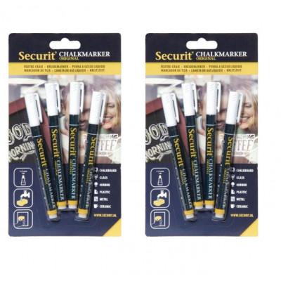 Set of 2 Chalk Markers 1-2 mm (4pcs) | White