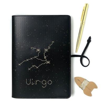 Stitch Notebook Star Sign | Schwarz