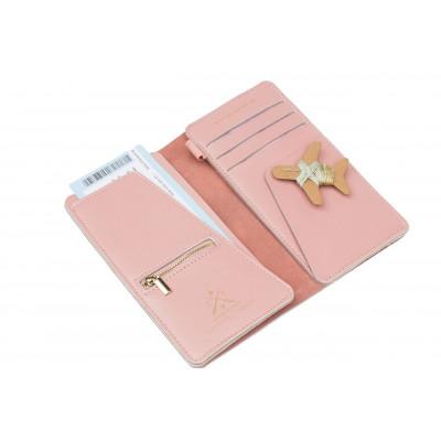 Stich Reisetasche | Pink + Minze & Goldfaden