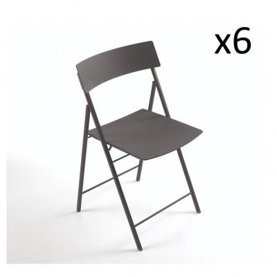 Piper Chair Dunkelgrau   6er-Satz