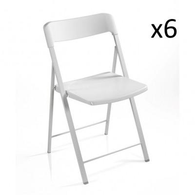 Stuhl Zeta weiß   6er-Satz