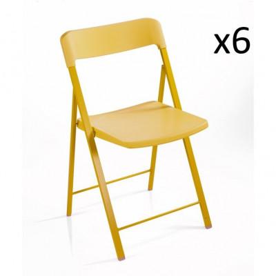 Stuhl Zeta Gelb   6er-Satz