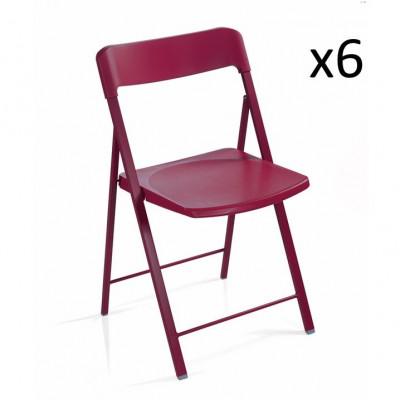 Stuhl Zeta Rot   6er-Set
