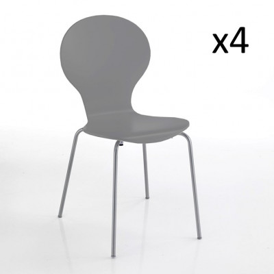 4er-Set   Stuhl Baldi   Grau