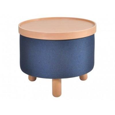 Hocker Molde mit herausnehmbarem Tablett Groß | Blau