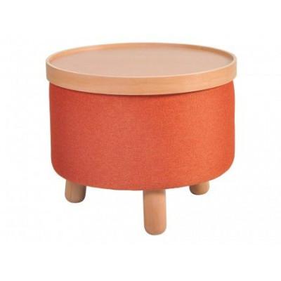 Hocker Molde mit herausnehmbarem Tablett Groß | Orange