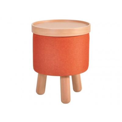 Hockerform mit herausnehmbarem Tablett klein | Orange