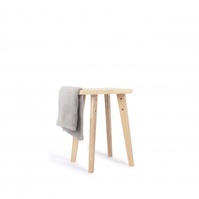 Hocker Ferma   Weißes & helles Holz